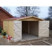 Foresta Garage en bois 28 mm 3.50 x 5.40 m (Livré et monté)