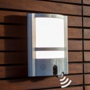 Vesta Cam outdoor wall light with sensor & camera