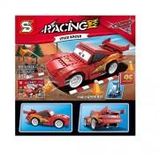 Sanyal Speed Racer Car Self Assembling Toy Bricks & Blocks Set for Kids - 312 Pcs Block Set (Multicolour)