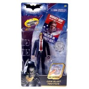 Batman Dark Knight Movie Action Figure Coin Blast Two-Face (With Collector Card!)