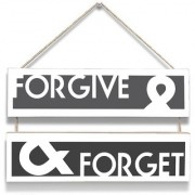 100yellow Forgive & Forget Wall Door Hanging Board Plaque Sign For Wall Dcor (7 X 12 Inch)