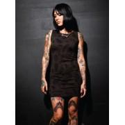 rochie femei SANTA CRUZ - Tatuaj - Epocă Negru - GTD