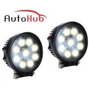 Auto Hub Bike 9 LED Fog Light Lamp For Universal for Bikes - Pack of Two