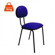 Cadeira de Escritório Palito Secretária Fixa Korano Azul
