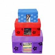 PrettyKrafts Storage Combo Pack of 3 /Organizer/Storage Box/Toys Storage Box/Books Storage Box