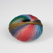 LANG Yarns Mille Colori Baby von LANG Yarns, Lila-Petrol-Bunt