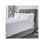 Lenjerie pentru pat matrimonial, Dormisete, Satin Astra, 250 x 280 cm, bumbac, Alb
