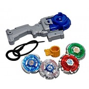 Sceva 4D System Beyblades 4 In 1 Beyblades Metal Fighter With Metal Fight Ring And Handle Launcher Toy (Multicolour)