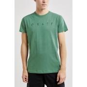 CRAFT Deft II férfi póló sötét-zöld