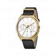 Esprit Slice Chronograph férfi karóra, bőr szíj, quartz, arany