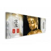 Złoty Budda - obraz na płótnie