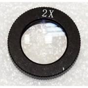 Obiectiv de conversie pentru microscoapele INDc1d, cu putere de mărire 2.0x