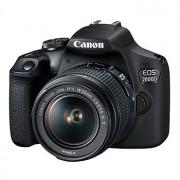 Canon EOS 2000D hus + EF-S 18-55/3,5-5,6 IS II + extra batteri LP-E10