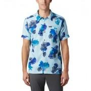 Columbia Chemise Manches Courtes Outdoor Elements - Homme Bleu Tropical XL