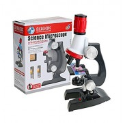 Tmrow Microscope Kit Science Experiment Supplies LED 100x 400x and 1200x Magnification for Boys Girls Students Microscope Kit