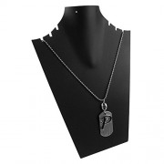 eshoppee P name plate locket with dog tag for men and women