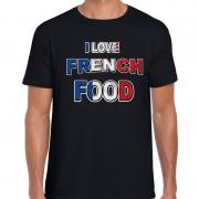 Bellatio Decorations I love French food t-shirt zwart voor heren