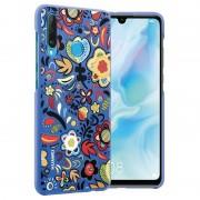 Capa Colorful para Huawei P30 Lite 51993074 - Flores Azuis
