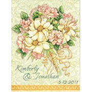 "Gold Collection Bouquet Wedding Record Counted Cross Stitch -11""""X14"""" 14 Count"