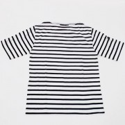 ≪SAINT JAMES≫PIRIAC半袖Tシャツ(NEIGE/NOIR)[さっぽ店からの発送]