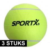 Merkloos 3x SportX tennisballen XXL 22 cm