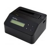 """StarTech.com Borrador Disco y Docking Station para Unidades SATA 2.5/3.5"""", USB 3.0, Negro"""