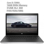 """HP Probook 440 14"""" Full HD FHD (1920x1080) Business Laptop (Intel Core i5-7200U, 16GB DDR4, 512GB M.2 SSD) Fingerprint, Backlit KB, Bluetooth, Type C, HDMI, VGA, Windows 10 Pro"""