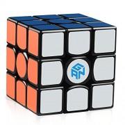 D-FantiX Gans 356 Air Master 3x3 Speed Cube Gan356 Air Magic Cube Puzzles Black with Cube Stand