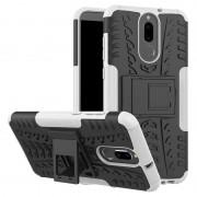 Capa Híbrida Antiderrapante para Huawei Mate 10 Lite - Branco / Preto