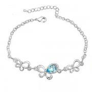 Kék kristályos pillangós karkötő