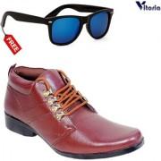 Vitoria Stylish Boot Shoes With Free Fashionable Unisex Sunglasses Combo