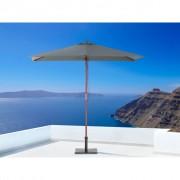 Beliani Divatos szürke színű kültéri fa napernyő 144 x 195 cm FLAMENCO