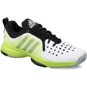 ADIDAS BARRICADE CLASSIC BOUNCE Tennis Shoes For Men(Black, Green, White)