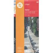 Topografische kaart - Wandelkaart 42 Topo50 Luik - Liege | NGI