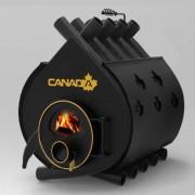 Печка на дърва Canada 02 със стъкло и защита, 100л