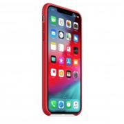 Apple Silicone Case - оригинален силиконов кейс за iPhone XS (червен)