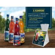 1.Fabbri Limonádé csomag Akció! Redeljen 4 ízt, 1 csomag szívószálat és 15 db limonádélapot adunk ajándékba!