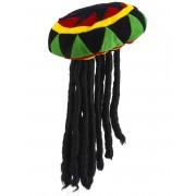 Vegaoo Rastamössa med dreadlocks - Hattar för vuxna One-size