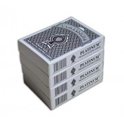The Ace Card Company Plastic Washable Casino Playing Cards (2 Black, 2 Purple) - Pack of 4