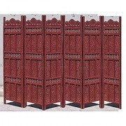 Shilpi Handicrafts Wooden Room Divider Screen Partition Made in Mango Wood Frame Jali in MDF Panel (6)