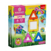 Joc Magnetic Educativ 3D Magspace Magic Power - 14 piese