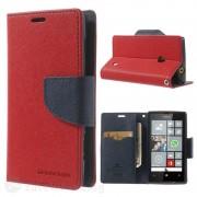 Калъф страничен флип модел GOOSPERY, марка Mercury за Nokia Lumia 520 - червен