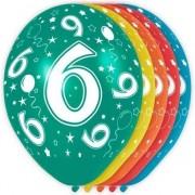 Geen 5x stuks 6 Jaar thema versiering heliumballonnen 30 cm