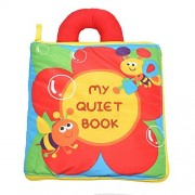 Flower Cloth Book,Soft Books for Kids,Activity Book for Preschool Education