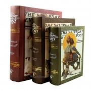 Set De 3 Cutii pentru Depozitarea Bijuteriilor Tip Carte SATURDAY WZ715