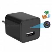 Cargador de pared USB Wi-Fi con camara - Negro (Plug EU)