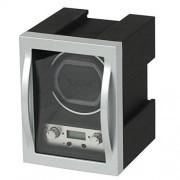 Allurez Reloj de diseño moderno para hombre con programas de bobinado personalizables de vidrio de aluminio de alta calidad