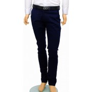 Pantaloni Slim Fit Bleumarin bumbac - Pantaloni barbati casual-eleganti PN12