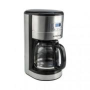 Ръчна шварц кафемашина Singer SFC-1810D, 1000 W, 12 чашки вместимост, LCD дисплей, таймер за 24 часово програмиране, антикапкова система, инокс