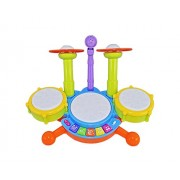 DD Drumming Toys for Baby Kids Touch Electronic Drum Set Big with Flashing Lights Size : 40 x 23 x 30 cm
